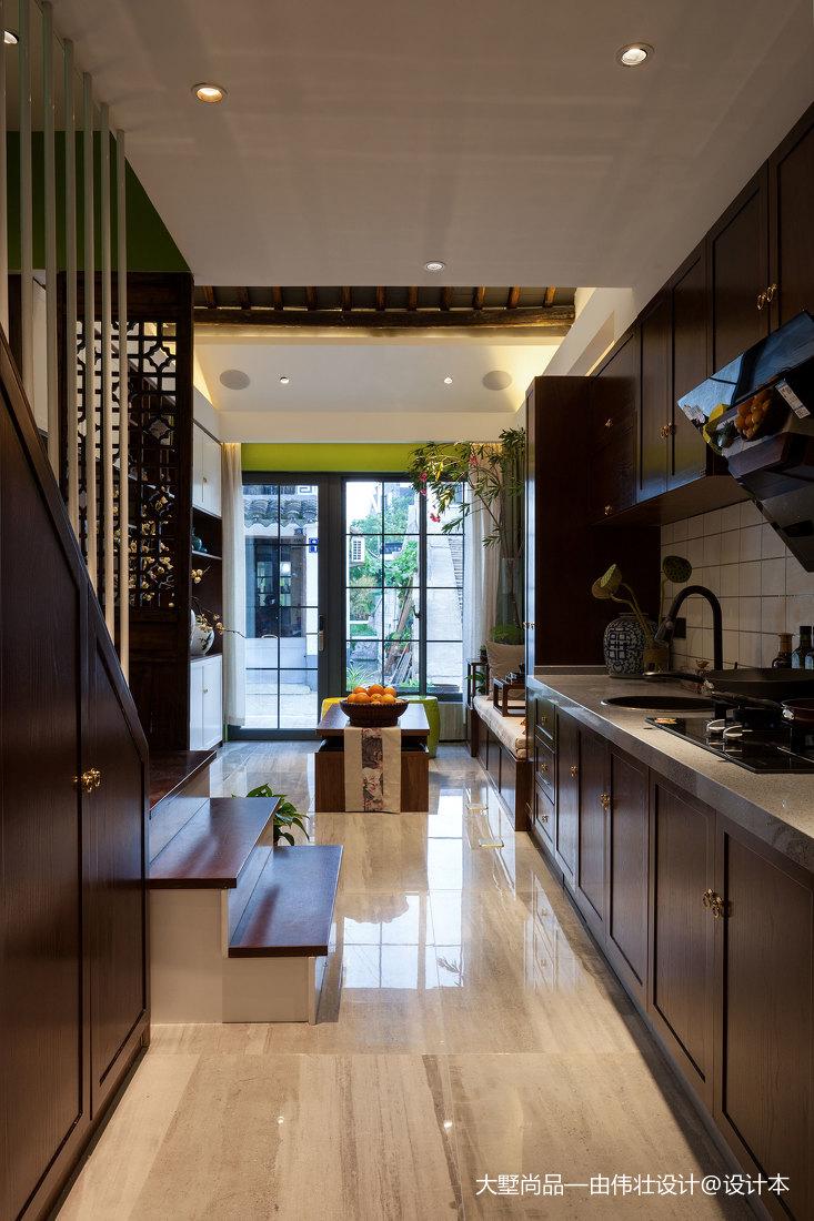 2018精选小户型厨房中式装修设计效果图片大全餐厅中式现代厨房设计图片赏析