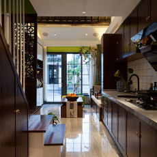 2018精选小户型厨房中式装修设计效果图片大全