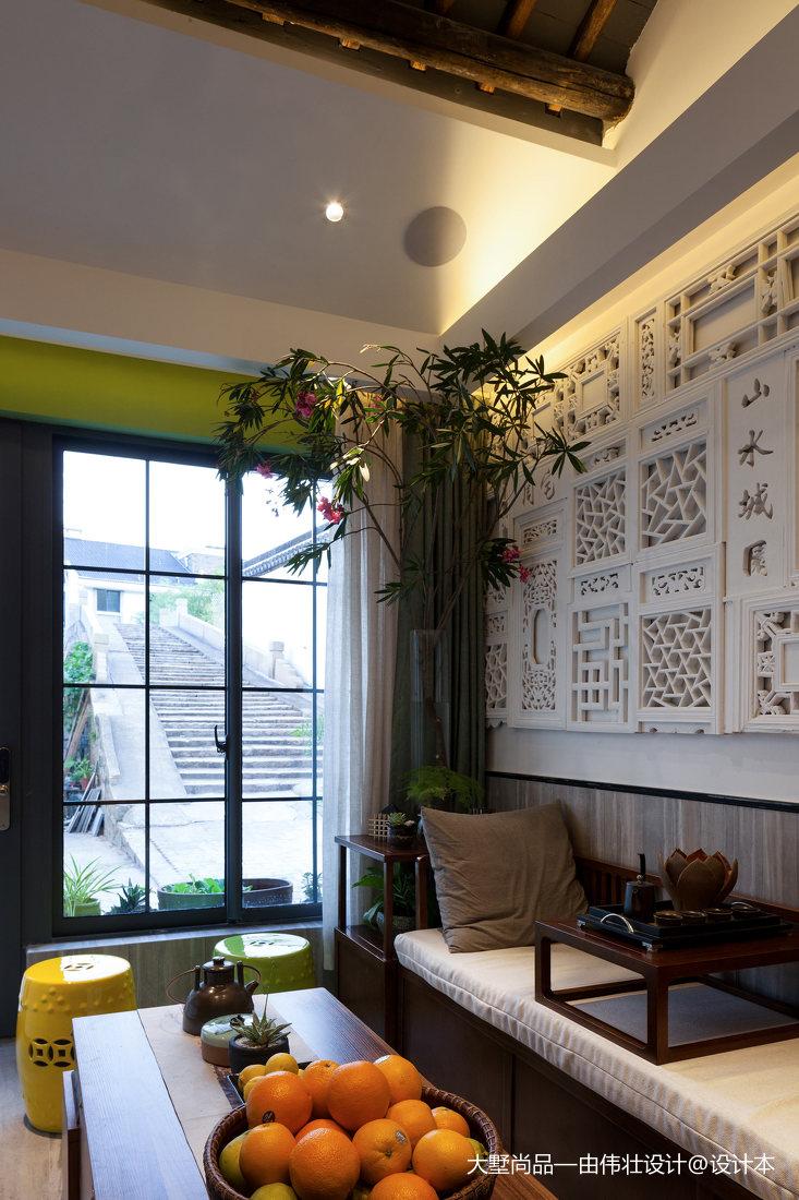 精选面积80平小户型客厅中式装修设计效果图片客厅2图中式现代客厅设计图片赏析