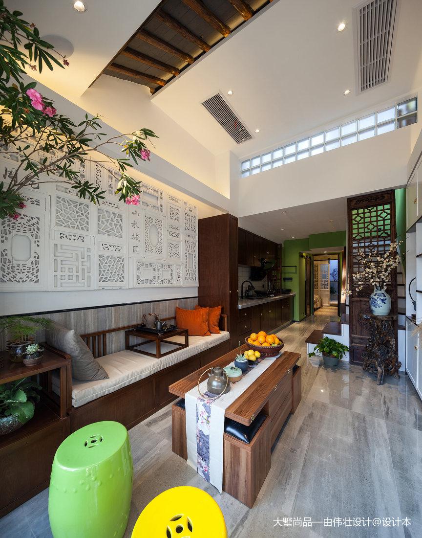 2018精选87平米中式小户型客厅效果图片欣赏客厅1图中式现代客厅设计图片赏析