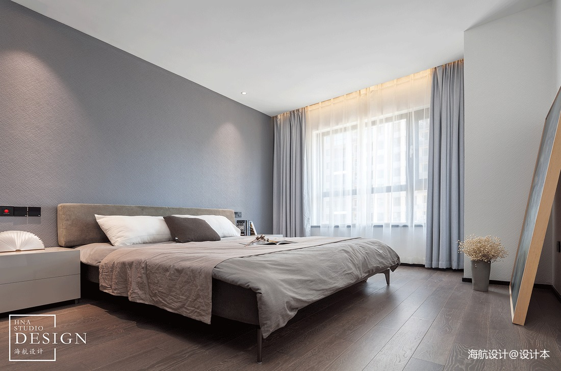 走进都市精英的生活现代风四居卧室设计美图卧室床现代简约卧室设计图片赏析