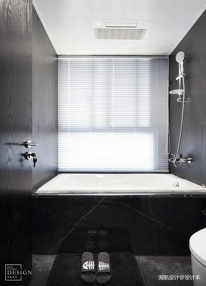 走进都市精英的生活现代风四居黑白调沐浴室设计美图卫生间现代简约卫生间设计图片赏析