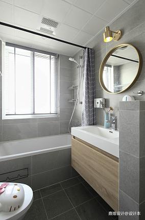 精选91平米三居卫生间现代欣赏图卫生间现代简约设计图片赏析