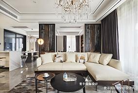 170㎡港式轻奢风格四居客厅设计美图