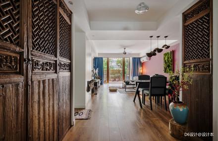 精美122平混搭二居客厅装修图片二居潮流混搭家装装修案例效果图