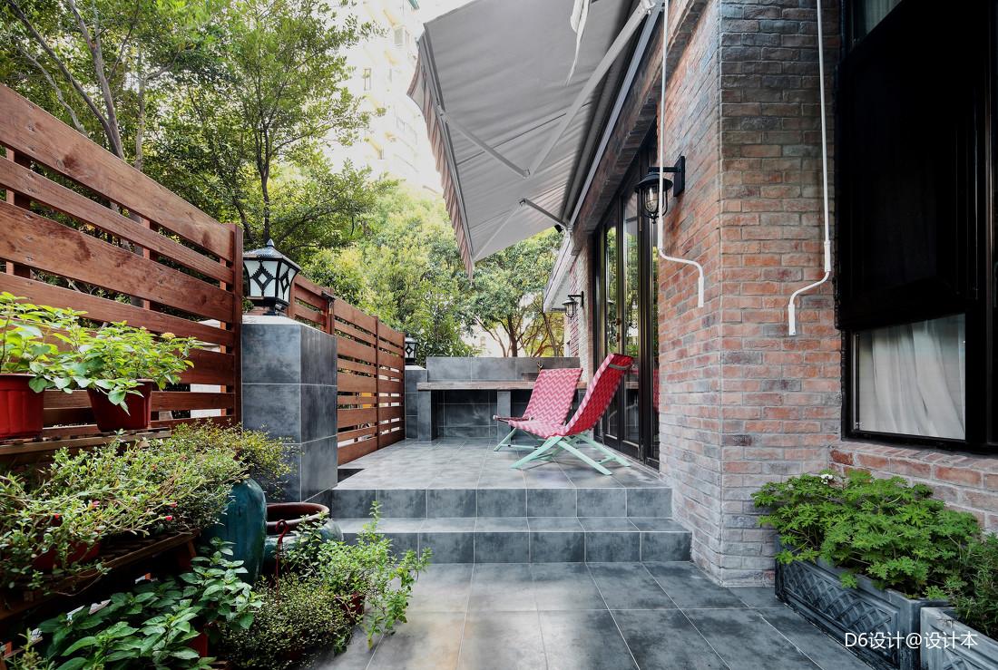 精美88平混搭二居花园装修案例功能区潮流混搭功能区设计图片赏析