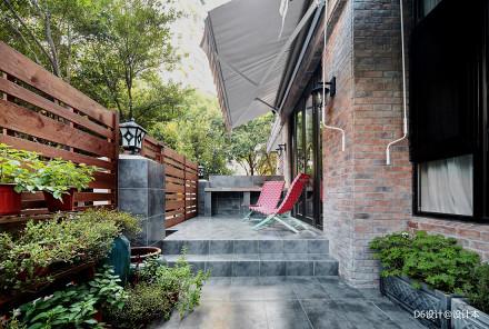 精美88平混搭二居花园装修案例功能区