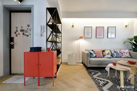 典雅33平北欧小户型客厅实景图片一居北欧极简家装装修案例效果图