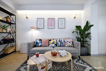 201929平北欧小户型客厅装修图