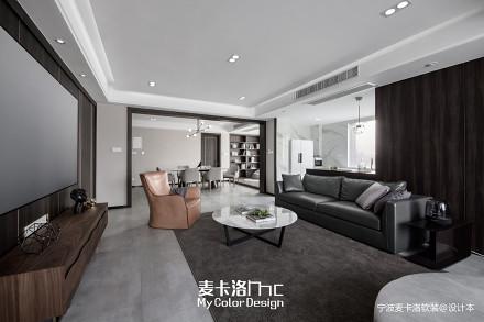 温馨127平现代三居客厅装修效果图
