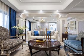 轻奢97平欧式四居客厅装修美图