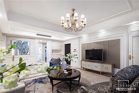 华丽120平欧式四居客厅设计美图