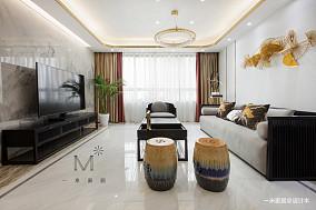 简洁132平中式三居客厅设计案例