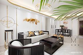 典雅102平中式三居客厅设计美图三居中式现代家装装修案例效果图