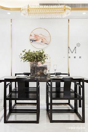 质朴119平中式三居客厅布置图三居中式现代家装装修案例效果图
