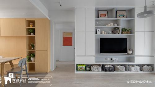 精美106平混搭三居客厅装修效果图客厅电视背景墙