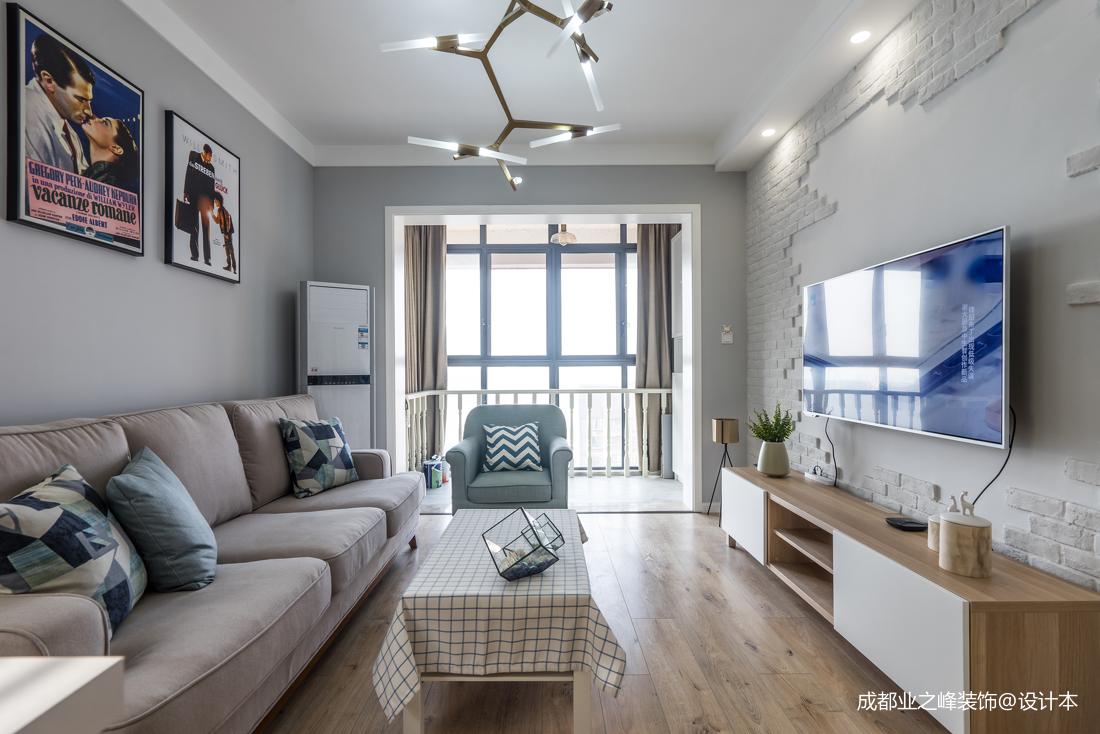 致瑞雅苑北欧风格客厅木地板北欧极简客厅设计图片赏析