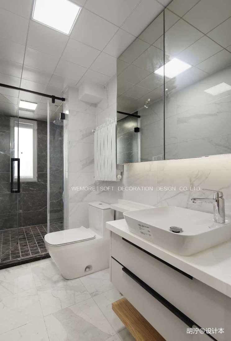 轻奢87平现代二居卫生间装修设计图卫生间马桶现代简约卫生间设计图片赏析