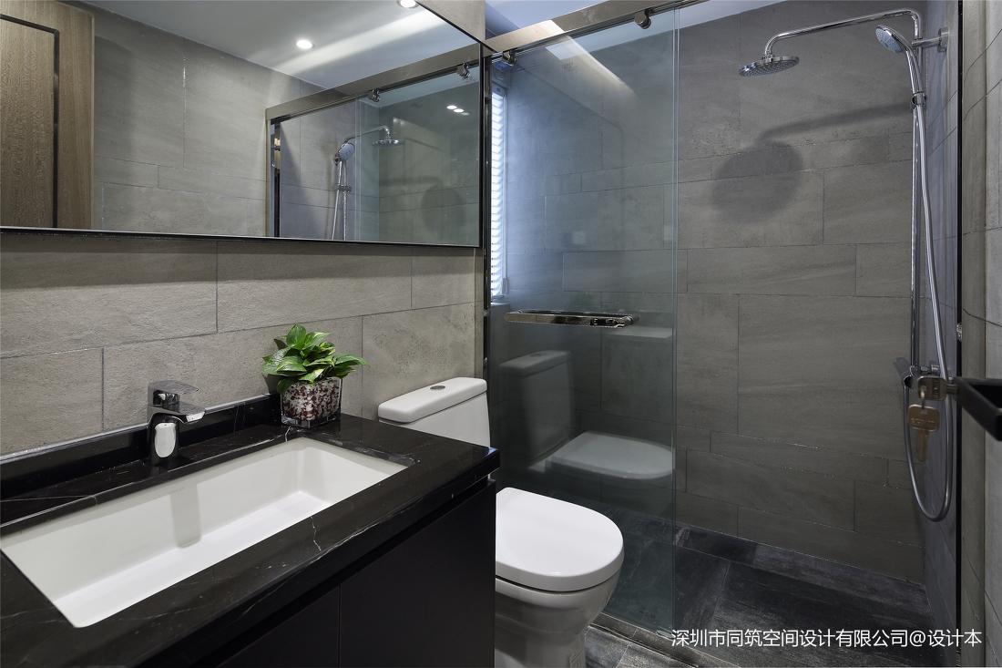质朴113平现代三居卫生间效果图片大全卫生间现代简约卫生间设计图片赏析