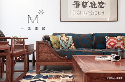 质朴270平中式二居装修装饰图二居中式现代家装装修案例效果图
