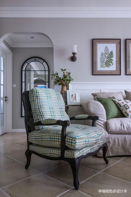 精致125平田园三居客厅装修案例客厅沙发美式田园家装装修案例效果图