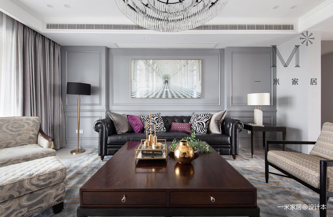 质朴230平美式三居客厅设计图三居美式经典家装装修案例效果图