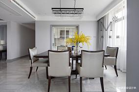 悠雅88平美式三居客厅装修案例三居美式经典家装装修案例效果图
