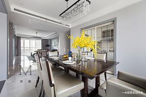 大气82平美式三居客厅装修装饰图三居美式经典家装装修案例效果图