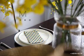 华丽127平美式三居客厅设计案例家装装修案例效果图