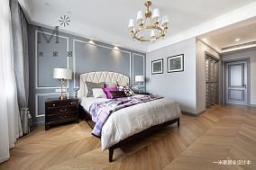 质朴98平美式三居客厅装饰美图三居美式经典家装装修案例效果图