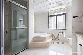 典雅118平美式三居客厅装修效果图三居美式经典家装装修案例效果图