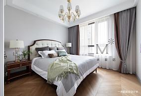 悠雅121平美式三居客厅效果图片大全三居美式经典家装装修案例效果图