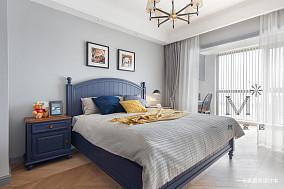 温馨108平美式三居设计效果图三居美式经典家装装修案例效果图