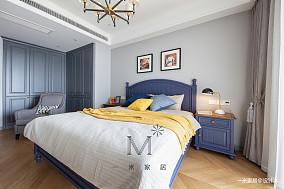 温馨110平美式三居装饰图片三居美式经典家装装修案例效果图