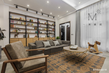 浪漫599平简欧别墅客厅设计图