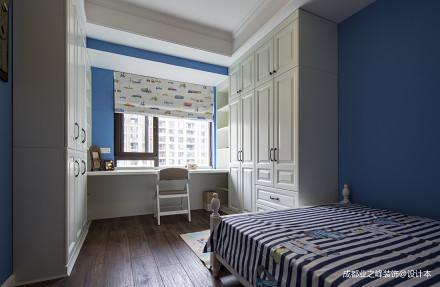 大气125平美式三居卧室实景图卧室