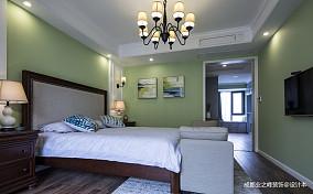 九号公馆美式三居卧室图