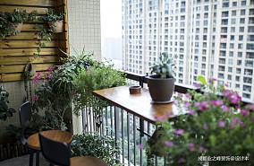 华丽129平美式三居阳台图片大全