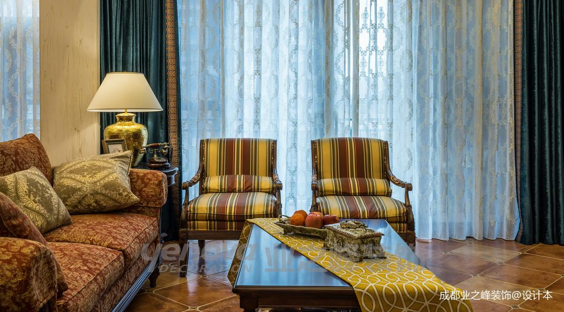 优雅42平美式复式客厅装修图客厅