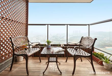 留香岁月美式复式阳台设计图阳台