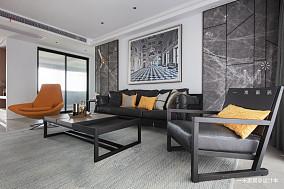 明亮84平现代二居客厅效果图二居现代简约家装装修案例效果图
