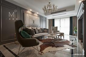 精致99平美式三居客厅装修案例三居美式经典家装装修案例效果图