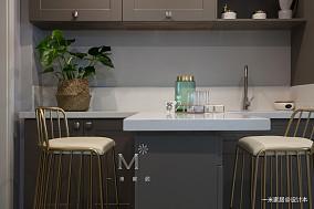 优美122平美式三居客厅效果图片大全三居美式经典家装装修案例效果图