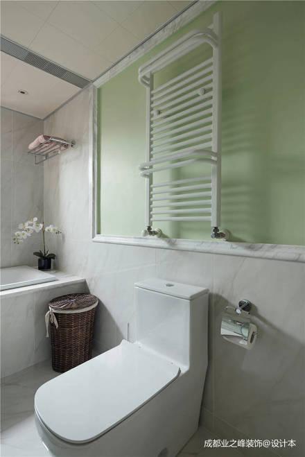 悠雅88平美式三居卫生间实景图片卫生间