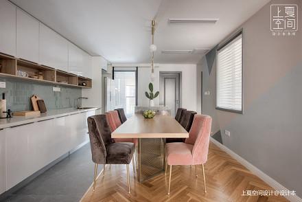 优美122平混搭三居餐厅效果图厨房