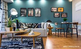 华丽42平现代小户型客厅装修美图