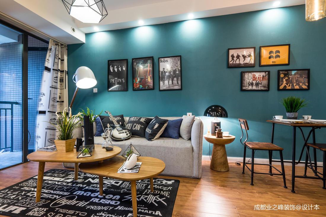 轻奢39平现代小户型客厅装修案例客厅
