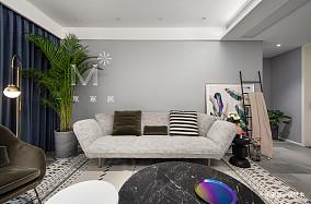 2019120平现代二居客厅效果图欣赏