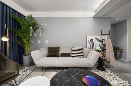 2019120平现代二居客厅效果图欣赏二居现代简约家装装修案例效果图
