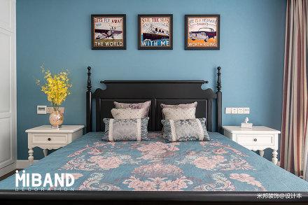 典雅94平美式四居卧室美图卧室
